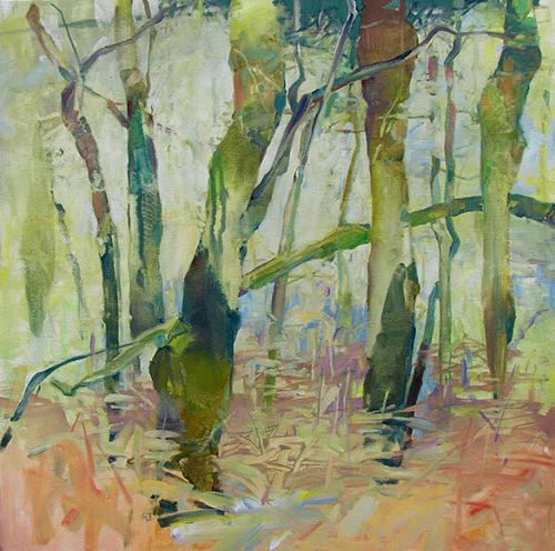 """Alder Rainforest"" Oil on Canvas, 24"" x 24"" by artist David Randall Tipton. See his portfolio by visiting www.ArtsyShark.com"