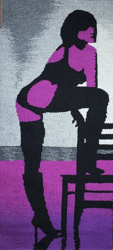 """Don't Mess with Dr. D'Lite"" Tapestry, 17"" x 39"" by artist Barbara Burns. See her portfolio by visiting www.ArtsyShark.com"
