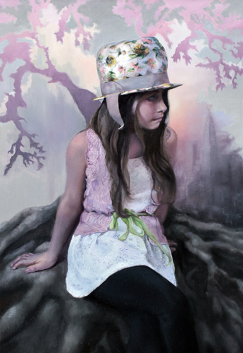 """Roots of Universal Optimism"" Oil, 20"" x 30"" by artist Jamie Lindholm. See her portfolio by visiting www.ArtsyShark.com"