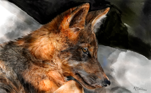 """Dharma"" Mixed Media on Watercolor Paper, 22"" x 13.5"" by artist Kathy Wilson. See her portfolio by visiting www.ArtsyShark.com"