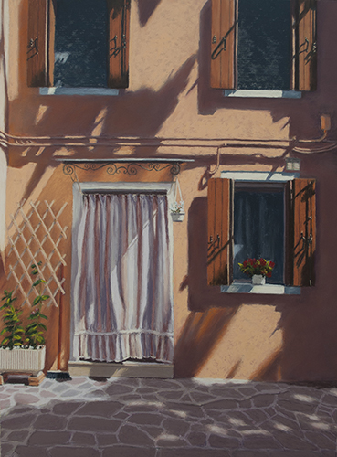 """Afternoon Shadows"" Pastel, 12"" x 16"" by artist Lisa Cunningham. See her portfolio by visiting www.ArtsyShark.com"