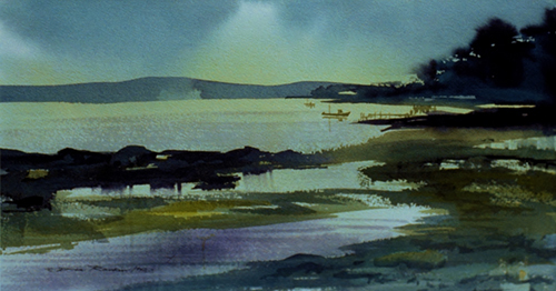 """Twilight"" Watercolor, 21.5"" x 15.5"" by artist Don Rankin. See his portfolio by visiting www.ArtsyShark.com"