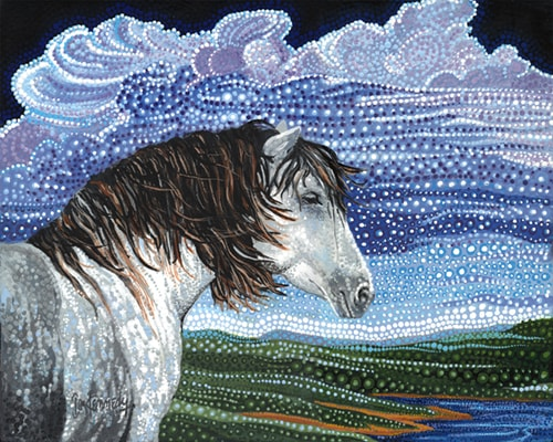 """Sparky"" Acrylic on Canvas, 16"" x 20"" by artist Ira Kennedy. See his portfolio by visiting www.ArtsyShark.com"