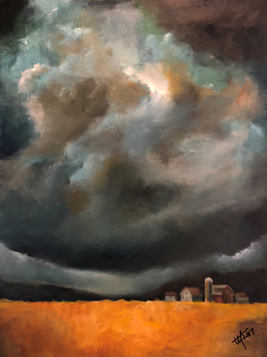 Prairie Thunderstorm painting in Acrylic by artist Terry Orletsky