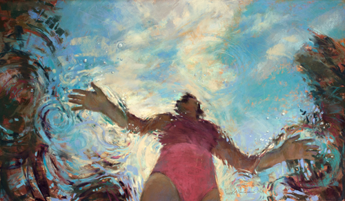 """""""Finding Balance"""" Pastel, 24"""" x 14"""" by artist Michele Poirier-Mozzone. See her portfolio by visiting www.ArtsyShark.com"""
