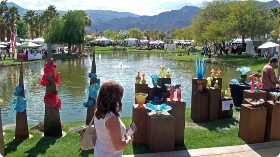 La Quinta Art Fair, one of the top-voted art fairs 2019 in the U.S. Find the list at www.ArtsyShark.com