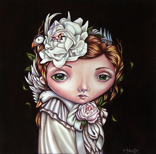 """Odette's Dream"" Oil on Board, 10"" x 12"" by artist Rachel Favelle. See her portfolio by visiting www.ArtsyShark.com"