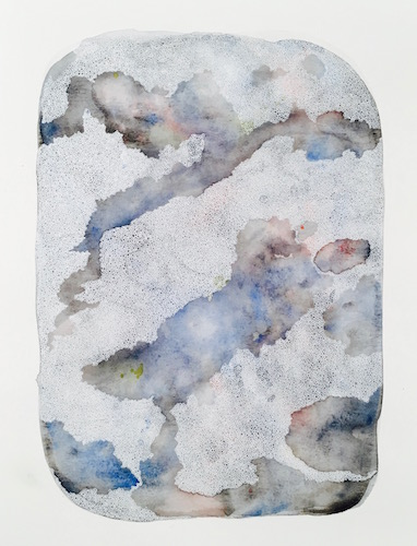 """Geode"" Watercolor and Pen, 11"" x 15"" by Artist Kjersti Ochsner"