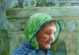 """Reflection"" Watercolor, 11"" x 7.75"" by Artist Gayle Isabelle Ford"