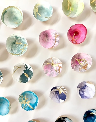 Colored Eggshells by artist Elisa Sheehan