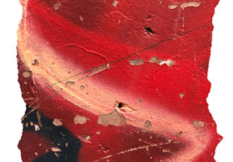 Photograph of a red painted wall by Denise Solay