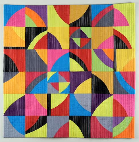 Contemporary abstract patterned fiber quilt by Cindy Grisdela