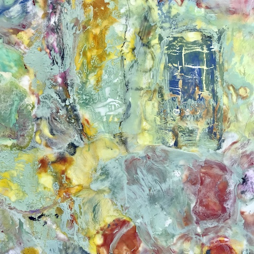 Encaustic abstract painting by Patricia Leeds