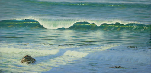 painting of the ocean by Mark Waller