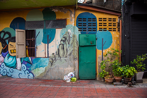 Photography of a metal door in Bangkok, Thailand by Jenny Nordstrom
