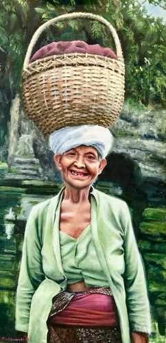 Portrait of an Indonesian woman named Selamat by Edi Matsumoto
