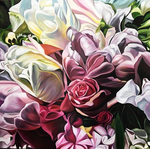floral painting by Jacqueline Coates
