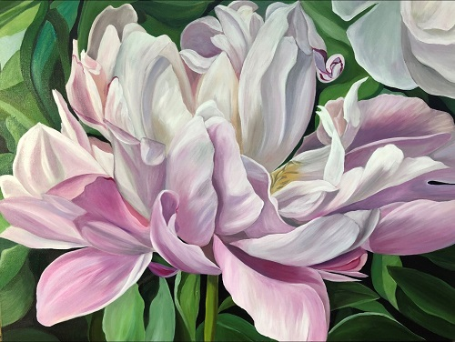 painting of a Nohant Peony by Jacqueline Coates