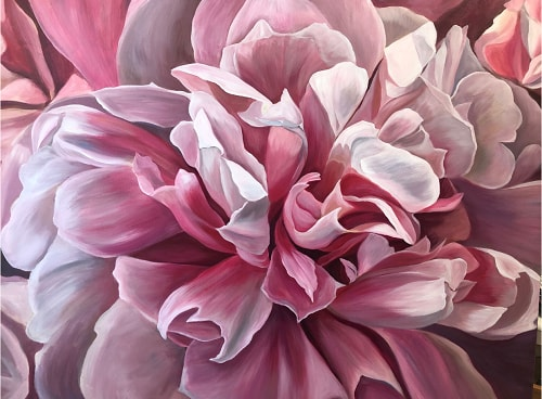 painting of a Monaco Peony by Jacqueline Coates
