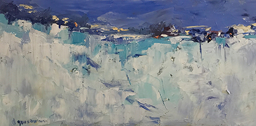 abstract winter landscape by Nataliya Gurshman