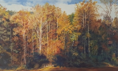 autumn landscape painting by Gayle Isabelle Ford