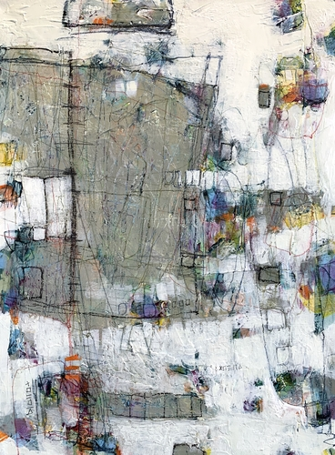 abstract painting by Lori Mirabelli