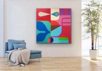 In situ photo of artwork in a room