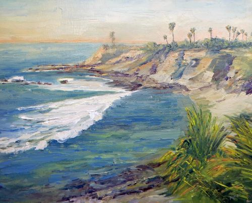 painting of Laguna Beach in California by Kathleen Williams