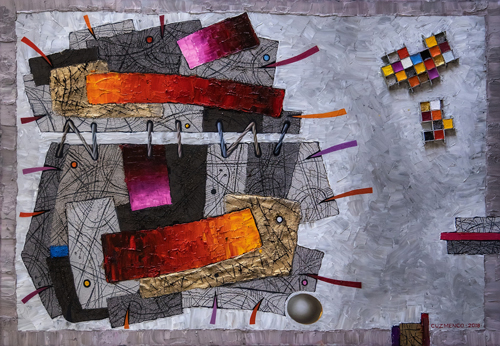abstract Ontologic painting by Victor Cuzmenco