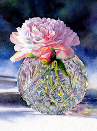 watercolor floral painting by Barbara Fox
