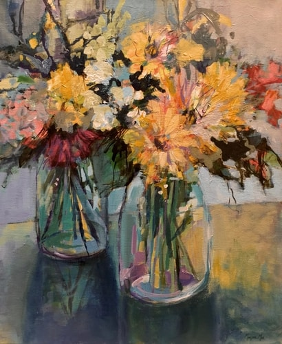 painting of floral arrangements by Marjorie Mae Broadhead