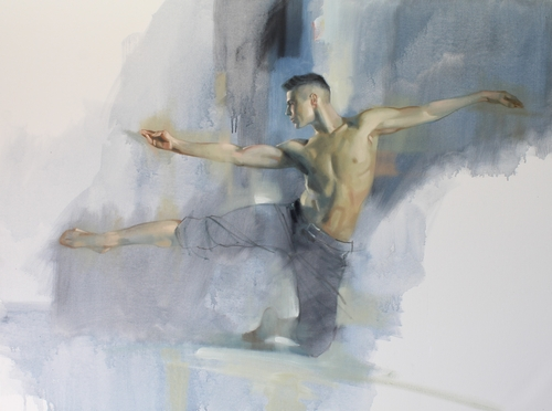 painting of a dancer by Richard S. Johnson