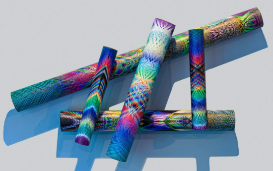 abstract sculptural photographic tubes by Barry Tarr