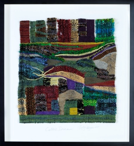 handwoven wall art abstract