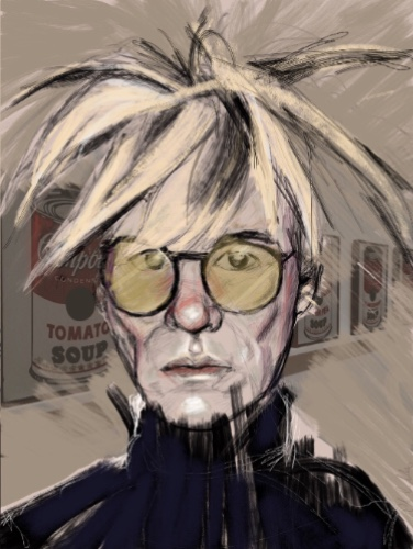 portrait of Andy Warhol by Colin Silverman