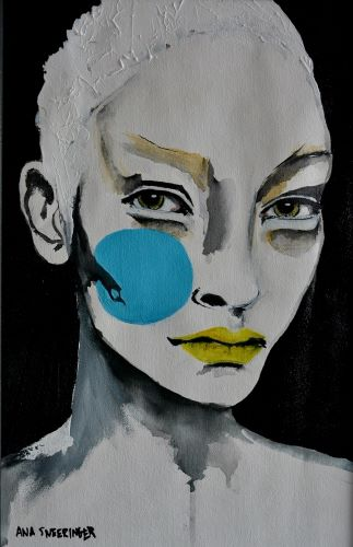 portrait of a woman's face by Ana Sneeringer