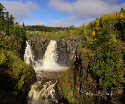 photograph of Grand Portage falls by William Gillis