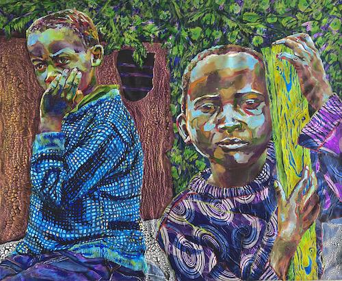 portrait of two brothers by Heidi Brueckner