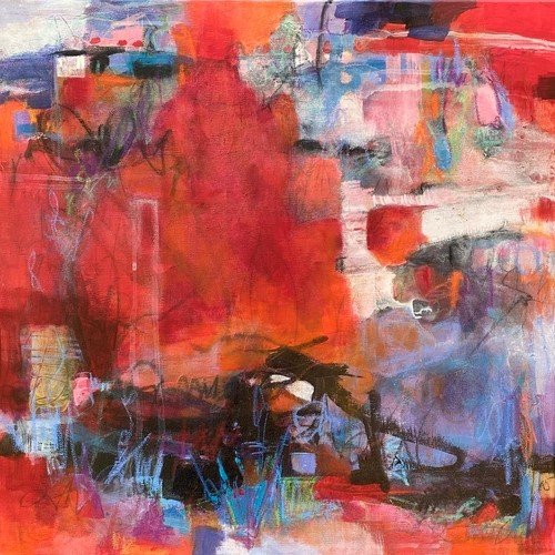 abstract painting by Laura McRae-Hitchcock