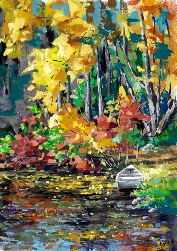 landscape painting by Ann Marie Hershberger