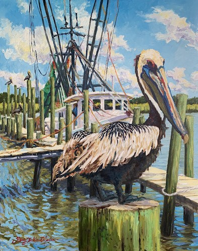 pelican painting by Sherry Strickland Martin