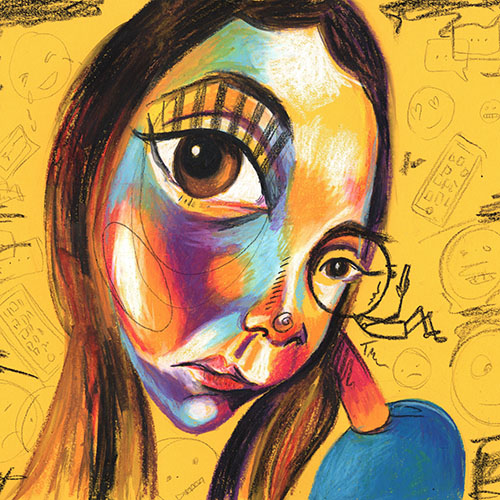 abstract portrait by Tara Roskell