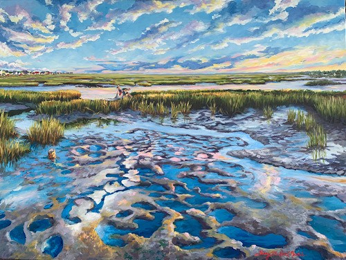 coastal painting by Sherry Strickland Martin