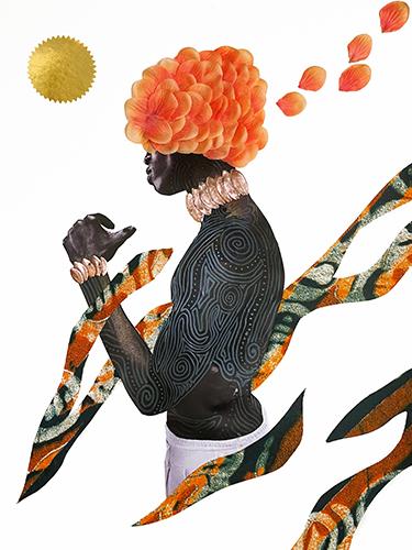 figurative mixed media collage by Rashad Ali Muhammad