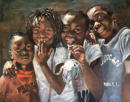 portrait of young African children by Julie Stead