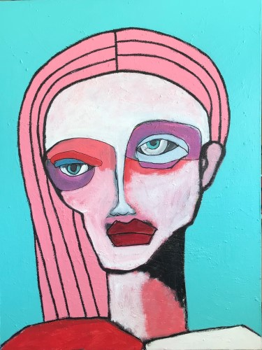 abstract portrait by Robert Catapano