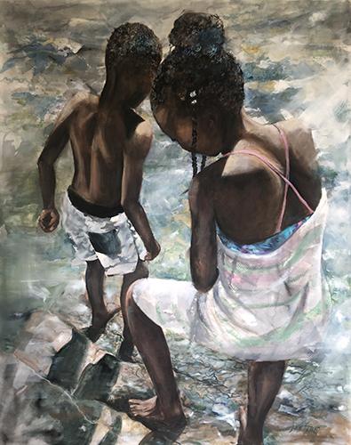 portrait of African children by Julie Stead